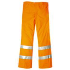 Pantaloni Ad Alta Visibilità In Cotone E Poliestere Colore Arancio Taglia S
