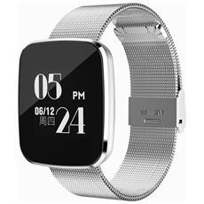 Smart Band V6 Activity Tracker Fitness Cardiofrequenzimetro Pedometro Calorie Silver