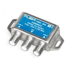 Switch DiSEqC 2x1, 950. . . 2200 MHz, Prese F, 75, 100 g