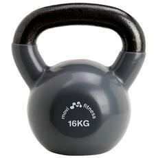 Pesi in ghisa 16 kg con maniglia kettlebell manubrio palestra fitness training