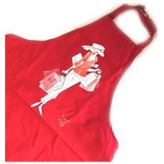 'french touch' grembiule 'la parisienne au moulin rouge' rosso - [ m5764]
