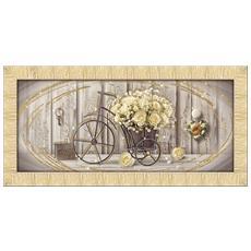 Quadro Su Tela Prince 65x135 Cm Yellow Roses Gold