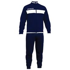 Tuta Drops Givova Completo Di Giacca Con Zip Manica Lunga E Pantalone Colore Blu / blu Taglia 2xl