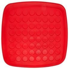 Vassoio Scolapiatti Plastica Rosso 34x 34cm