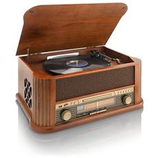 Giradischi TCD-2500 Potenza Totale 9W Lettore CD Radio FM USB