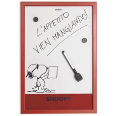 Lavagnetta magnetica Peanuts cm. 30x45 rossa.