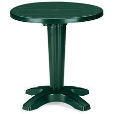Tavolo Giardino Tondo Diametro 70 Cm Zavor Verde