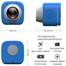 Wifi Selfie Camera Blu Cam Pro + Microsd 16 Gb Dv Recorder Dvr Car 120â° Action Camera App Hd 720p 30fps Videocamera Go Sport