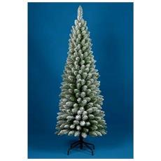 Albero Di Natale Innevato 210cm Slim Penicel Folto Ecologico Pvc 442 Rametti