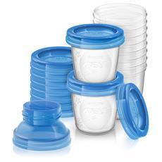 Set Vasetti per Conservazione del Latte Materno Set da 10 Pezzi 180 ml