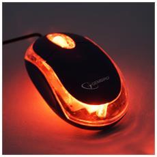 MUS-U-01-BKT USB Ottico 1000DPI Nero mouse