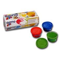 box 6 barattoli colori a dita 100ml giotto