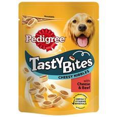 Snack per Cani Tasty Bites Cheesy Bites Confezione 140g