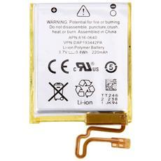 Batteria Compatibile Ricaricabile 220mah Per Apple Ipod Nano