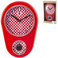Orologio Parete Rosso Cm21xh31 Arredo Casa