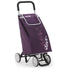 Carrello Spesa Twin 4 Ruote Prugna Spesa Facile Shopper