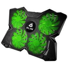 Wind Raffreddatore Per Pc Portatile - Il Più Potente - Azione Rapida - 4 Ventole Con Supporto Per Gaming Pc (verde)