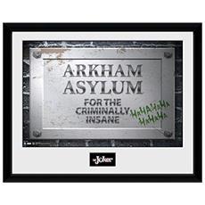 Comic - Arkham Asylum Sign (stampa In Cornice 30x40 Cm)