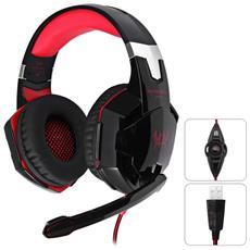 Kotion Ogni G2200 Gaming Cuffia 7,1 Surround Usb Vibrazione Gioco Cuffia Bracciale Con Microfono Luce Led Per Pc Gamer