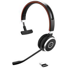 Evolve 65 UC Mono Padiglione Auricolare Bluetooth USB - Nero