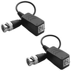 Coppia video balun bnc per cavo utp trasmettitori videosorveglianza passivo