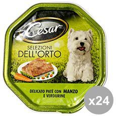 Set 24 150 Gr. Umido Patè Manzo-verdure Cibo Per Cani