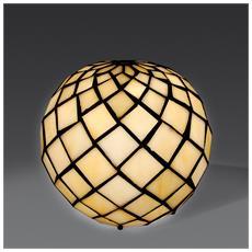 Abat-jour Sfera Con Perle Lampada Da Comodino In Vetro Stile Tiffany