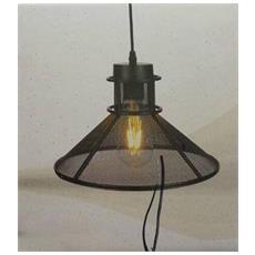 Lampadario Metallo Portalampada Maglia Nero Forma V Elegante Lampada 3860 Sospensione Design Moderno 290x100x1340mm Attacco E27
