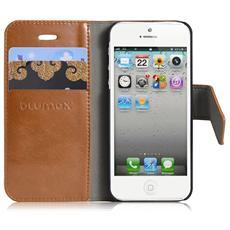 Custodia a libro per Apple iPhone 5, marrone
