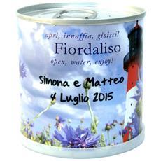 Bomboniere Naturali Personalizzabili Fiordaliso Fiori In Lattina Macflowers Made In Germany Cm 7,5x8 H