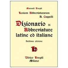 Dizionario di abbreviature latine ed italiane