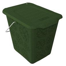 pz. 1 Pattumiera rettangolare 26x20.8x25.2 verde 7 lt F70775
