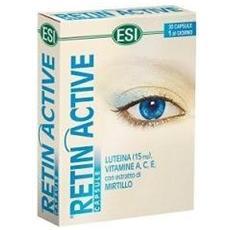 Retin active 20 capsule con mirtillo luteina vitamina a c e benessere occhi