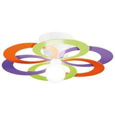 plafoniera grande colore multicolor