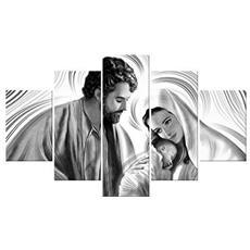Quadro Moderno Multipannello Vogue 48x85 Nativity Grey