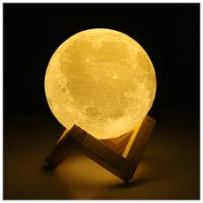 UE3D014 Ricaricabile Touch Switch 3D Print Moon Lamp Decor Gift