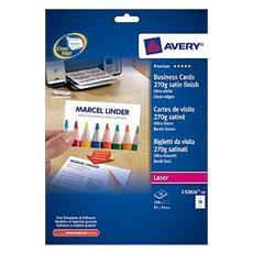 AVERY - Biglietti da visita Quick&Clean 270 g Bianchi...