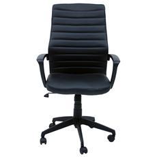 Poltrona direzionale sedia ufficio studio in ecopelle oscillante nera