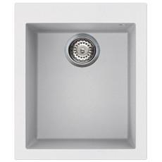 MD4152WH Lavello da Incasso in Crystaltech Bianco con 1 Vasca Dimensioni 41 x 50 cm