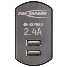 High Speed USB carica- batteria2.4A 2xUSB Port1001-0031