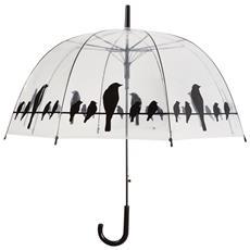 Tp166 Ombrello Trasparente Con Uccelli