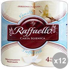 Set 12 X 4 Carta Igienica Vanilla Accessori Per Il Ba