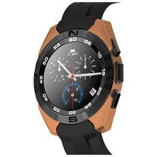 Nuovo Smartwatch Bluetooth Con Funzione Cardiofrequenzimetro Contapassi Colore Oro