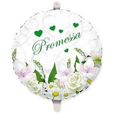 Palloncino Promessa Matrimonio Bouquet In Mylar Ø 45 Cm