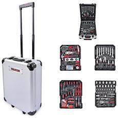 Werkzeugtrolley Set Attrezzi Alluminio 253parti Chiudibile A Chiave
