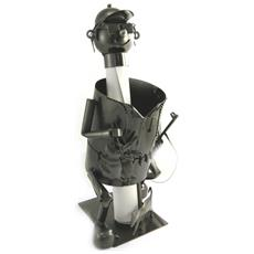 portabottiglie 'sculpture métal' cacciatore - [ m9885]