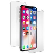 2xpellicola Iphone X Vetro Temperato Fronte / retro Protezione 360° Muvit