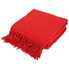 Plaid Super Soffice In Cotone Nido D'ape (king (260cm X 260cm)) (rosso)