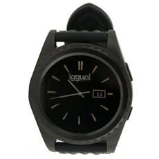 """Smartwatch Evo1 Display 1.2"""" Bluetooth con Contapassi e Cardiofrequenzimetro Nero - Europa"""