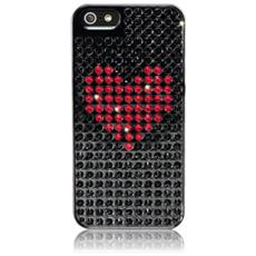 Heart Extravag. iPhone 5 5S SE Jet / Red